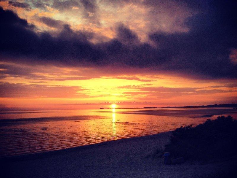 Beautiful sunset @ Lomma beach